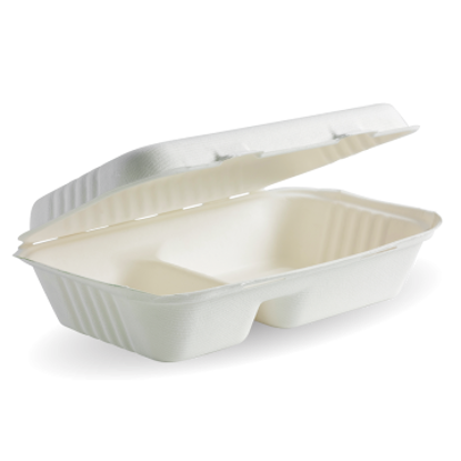 Picture of Compartment White Biocane Clamshell