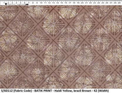 Picture of 100% ORGANIC COTTON BATIK PRINT FABRIC / AZO-FREE COLOR