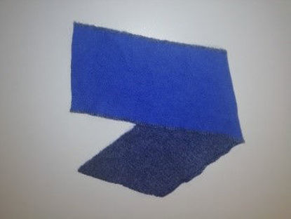 Picture of 90% wool, 10% cashmere off-cut (in blue)