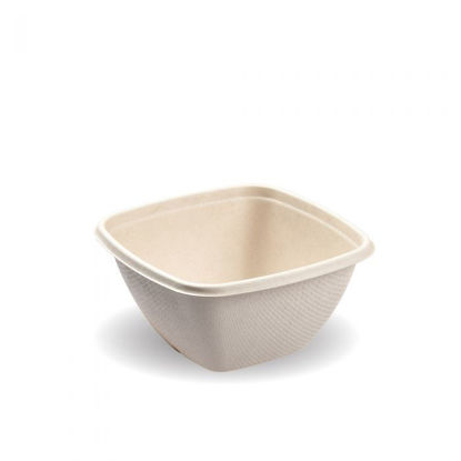 Picture of Small 500ml Square Natural Pac Bowl