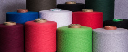 Picture of Recycled Hosiery Yarns 28s Ne (60/40 Cotton Poly Blended Dyed Yarns)