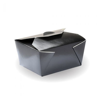 Picture of #1 Black PE Lined Hot Food Box