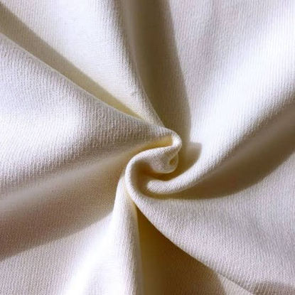 Picture of 100% ORGANIC COTTON FLEECE - PLAIN WHITE