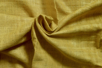 Picture of 100% Peace Silk  hand spun and hand woven (hand dyed in turmeric)