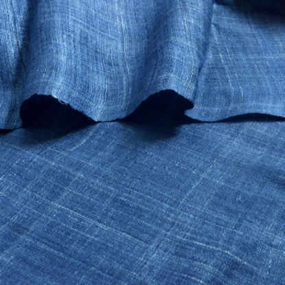 Picture of 100% Peace Silk hand spun handwoven (hand dyed in Indigo)