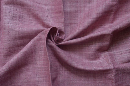 Picture of 100% Peace Silk hand spun and handwoven  (hand dyed in Lac)