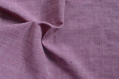 Picture of 50% Peace Silk and 50% Cotton hand spun and handwoven (hand dyed in Lac)