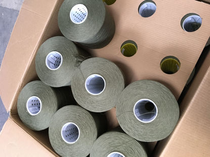 Picture of Yarn - Excess yarn due to go landfill - khaki green