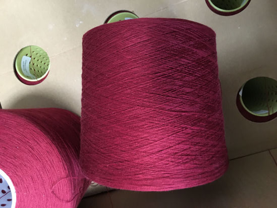 Picture of Yarn - Excess yarn due to go landfill - crimson red